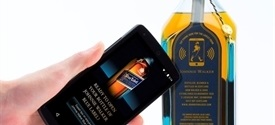 Diageo hace una botella inteligente de Johnnie Walker con una etiqueta NFC de Thinfilm